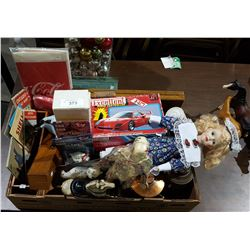 LARGE BOX LOT OF COLLECTIBLES