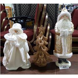 3 CHRISTMAS FIGURES