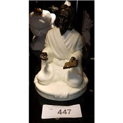 MINTON THE SAGE PORCELAIN AND BRONZE FIGURINE