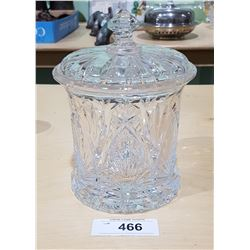 CRYSTAL LIDDED CANDY DISH