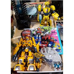 BOX LOT OF TRANSFORMER COLLECTIBLES