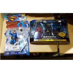 NEW IN BOX SUPERMAN ACTION FIGURE AND NEW IN BOX BATMAN ACTION FIGURE SET