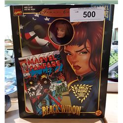 """NEW IN BOX MARVEL FAMOUS COVER SERIES BLACK WIDOW 8"""" ACTION FIGURE"""