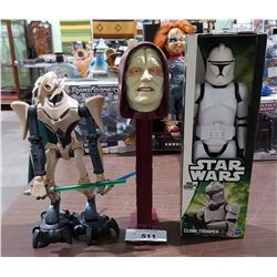 3 STAR WARS COLLECTIBLES