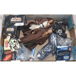 BOX LOT OF STAR WARS COLLECTIBLES