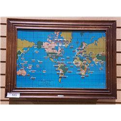 VINTAGE BARWICK WORLD CLOCK