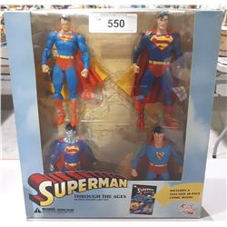 NEW IN BOX SUPERMAN THROUGH THE AGES ACTION FIGURE GIFT SET