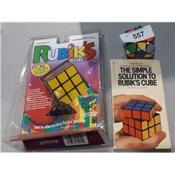 2 RUBIKS CUBES AND BOOK