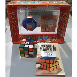 2 RUBIKS PUZZLES AND BOOK