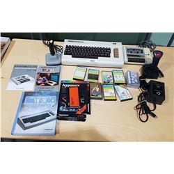 VINTAGE COMMODORE VIC-20 COMPUTER W/ACCESSORIES & GAMES