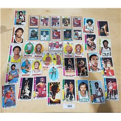 COLLECTION VINTAGE TALL BOY BASKETBALL CARDS & HOCKEY CARDS