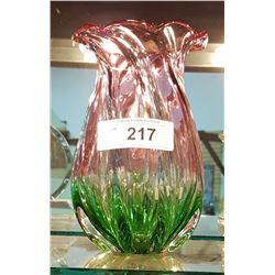 TWO-TONE ART GLASS VASE