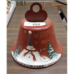 HAND PAINTED CHRISTMAS BELL