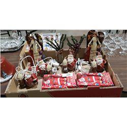 BOX LOT CHRISTMAS DÉCOR
