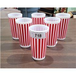 SET OF 6 VINTAGE MILK GLASS TUMBLERS