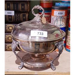 VINTAGE SILVER PLATE CHAFING DISH