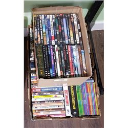 TWO BOXES MISC. DVD'S
