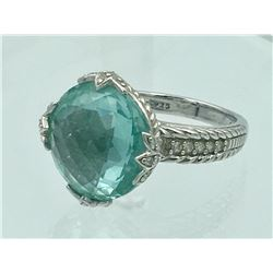 JUDITH RIPKE STERLING SILVER RING WITH TEAL STONE