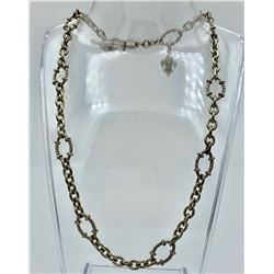 JUDITH RIPKA STERLING SILVER CHAIN WITH TOGGLE CLASP