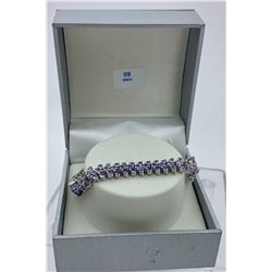 STERLING SILVER TANZANITE BRACELET WITH CERTIFICATE