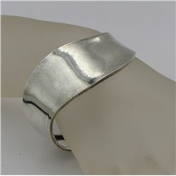 TAXCO MIDCENTURY MEXICO STERLING SILVER .925 BRACELET CUFF