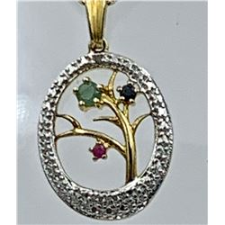 GORGEOUS GOLD TONED STERLING SILVER SET WITH MULTI-COLORED RHINESTONE FLOWERS