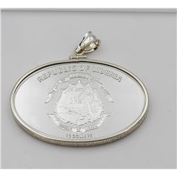 TITANIC EXPEDITION 2000 REPUBLIC OF LIBERTA 2005 STERLING SILVER COIN