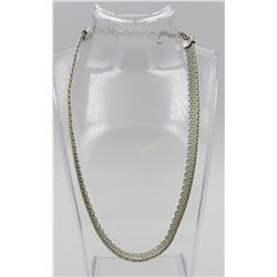 """SIGNED""""GC"""" .925 STERLING SILVER HEAVY MESH COLLAR NECKLACE"""