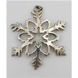 REED & BARTON SNOWFLAKE CHRISTMAS ORNAMENT