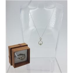 IRISH CELTIC GOOD LUCK STERLING SILVER SET