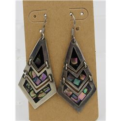VINTAGE MEXICO .925 EARRINGS WITH ABALONE SHELL