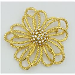 JOAN RIVERS CLASSIC COLLECTION GOLD TONE BROOCH/PIN