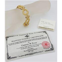 CAMROSE & KROSS JAQUELINE BOUVIER KENNEDY GOLD TONE BRACELET