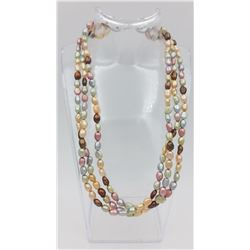 HONORA COLLECTION 3 STRAND CULTURED PEARL NECKLACE