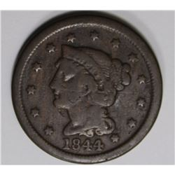 1844/81 LARGE CENT BEAUTIFUL COLOR F-VF