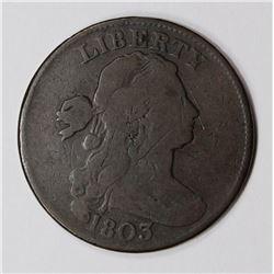 1803 LARGE CENT, VG/FINE