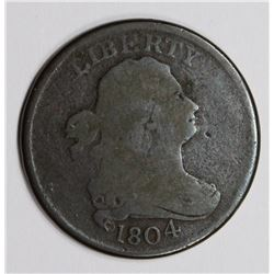 1804 HALF CENT, NICE VG, CHOCOLATE BROWN