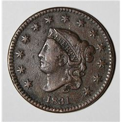 1831 LARGE CENT, VF/XF VERY NICE