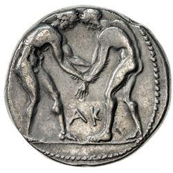 ASPENDOS: ca. 370-333 BC, AR stater (10.59g). VF