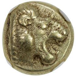 LESBOS: Mytilene, ca. 521-478 BC, EL hecte (1/6 stater) (2.52g). NGC EF