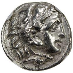 MACEDONIAN KINGDOM: Philip III, 323-317 BC, AR drachm. NGC EF