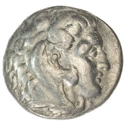 MACEDONIAN KINGDOM: Alexander III, the Great, 336-323 BC, AR tetradrachm (16.68g), Sardis. F
