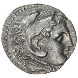 MACEDONIAN KINGDOM: Alexander III, the Great, late issue, ca. 180 BC, AR tetradrachm (17.04g), Pella