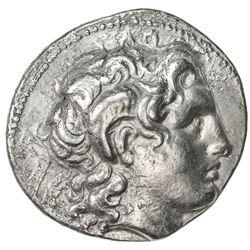 THRACIAN KINGDOM: Lysimachos, 323-281 BC, AR tetradrachm (16.87g). VF
