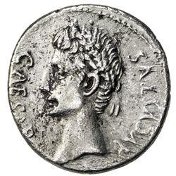 ROMAN EMPIRE: Augustus, 27 BC-14 AD, AR denarius (3.47g), Caesar Augustus (19-18 BC). VF