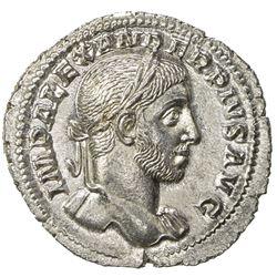 ROMAN EMPIRE: Severus Alexander, 222-235 AD, AR denarius (2.74g), Rome (232). UNC