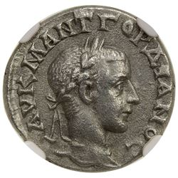 ROMAN EMPIRE: Gordian III, 238-244 AD, AR drachm, year 5 (=241/242 AD). NGC AU