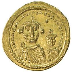 BYZANTINE EMPIRE: Heraclius, 610-641, AV solidus (4.39g), Constantinople. VF-EF