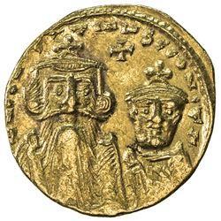 BYZANTINE EMPIRE: Constans II, 641-668, AV solidus (4.31g), Constantinople. EF