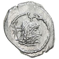 HIMYARITE: Tha'ran Ya'ub, ca. 175-225, AR unit (1.75g), Raidan. UNC